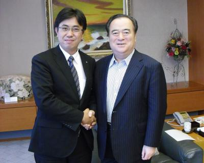 橋本知事訪問①