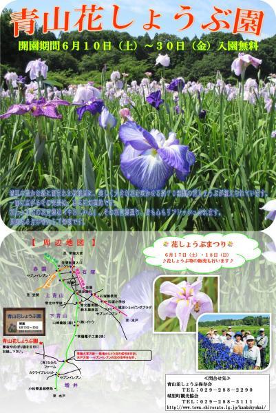 『H29花しょうぶ園ポスター』の画像