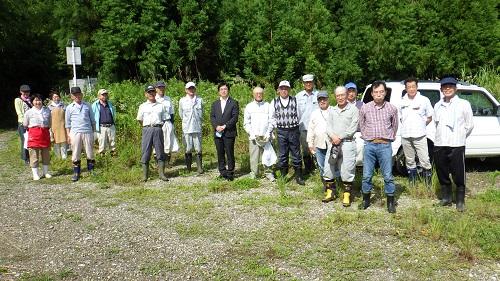 『町長フォトニュース 久慈川・那珂川一斉クリーン作戦 集合写真』の画像