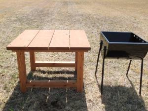 『BBQコンロ・食材テーブル』の画像
