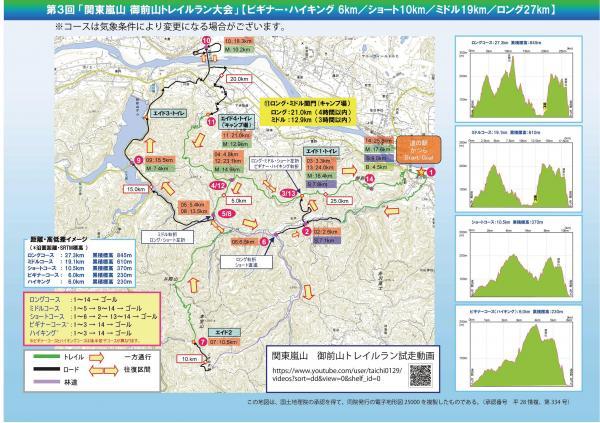 『御前山トレイルラン大会コース図』の画像