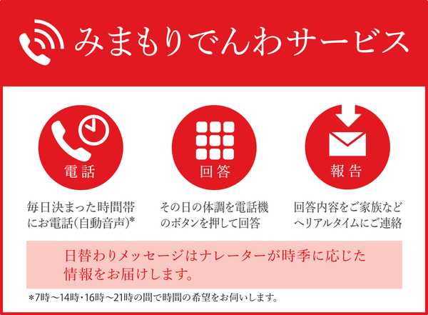 『みまもり電話サービス』の画像