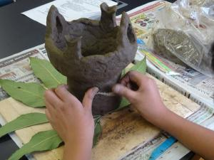 『体験学習(縄文土器作り)』の画像