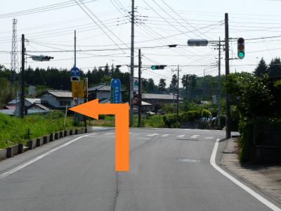 施設:中学校入口の交差点